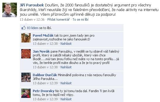 Paroubek Facebook