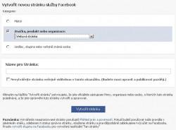 Vytvořit stránku na Facebooku