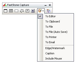 FastStone Capture - volba uložení screenshotu