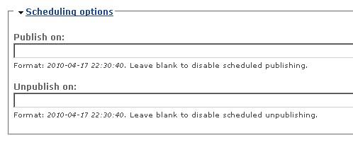 Nastavení Scheduler