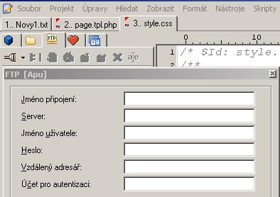 PSPad - FTP klient