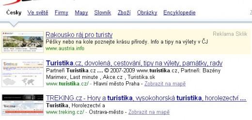 SERP turistika Seznam.cz