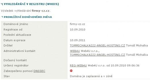 Whois - Firmy-cz.cz