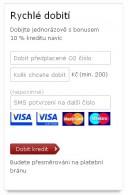 Dobíjení kreditu