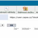 Přehled složek Capsa.cz