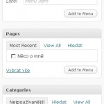 WordPress 3.0 – RC1 – Custom menu
