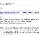 Google - najdu tam, co hledám