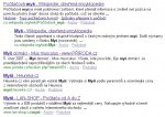 SERP - myš Google