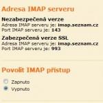 Seznam.cz spustil IMAP