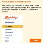 Email Seznam.cz sám filtruje obchodní sdělení