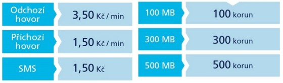 O2 ceny volání a internetu