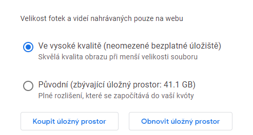 Nastavení služby Google Photos