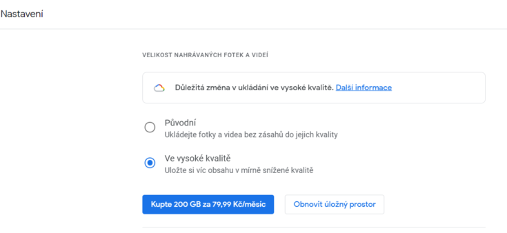 Fotky Google končí zdarma